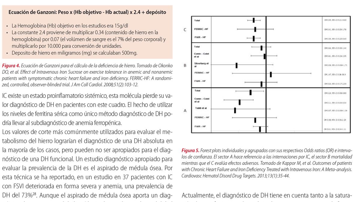 Deficiencia de hierro en la insuficiencia cardíaca: diagnóstico y alternativas terapéuticas