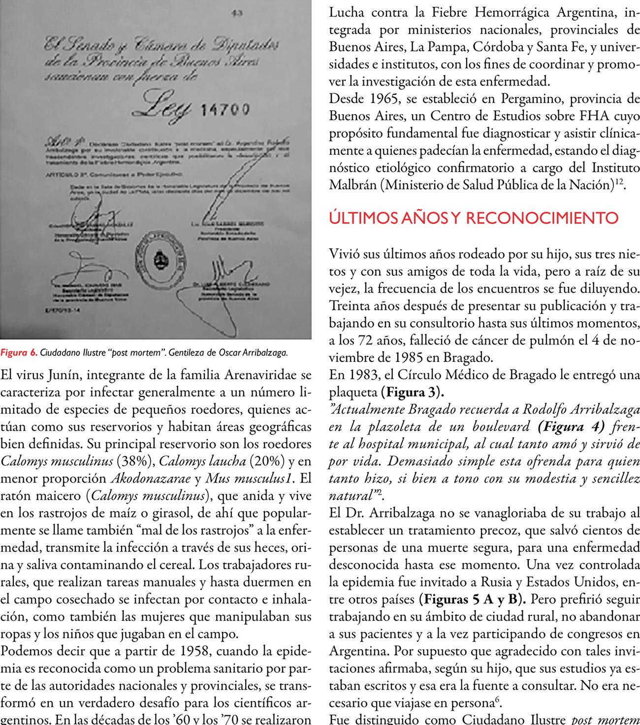 Argentino Rodolfo Arribalzaga (1913-1985) y la primera descripción de la fiebre hemorrágica argentina