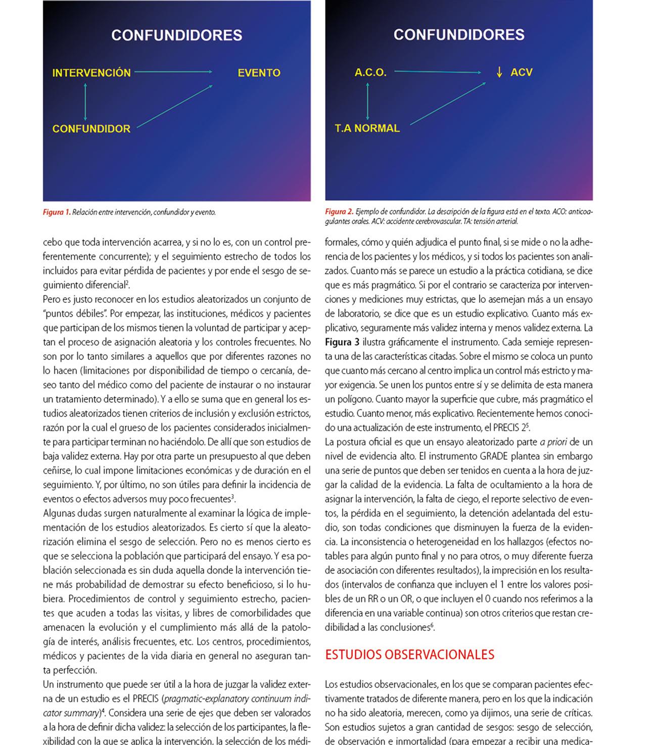 Acerca de estudios aleatorizados y observacionales