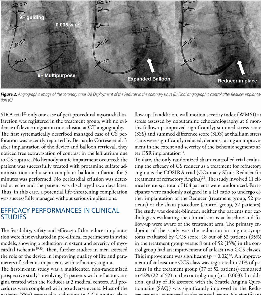 "The coronary sinus reducer: a validate option for ""no-option"" labeled patients. Clinical evidences and new perspectives"
