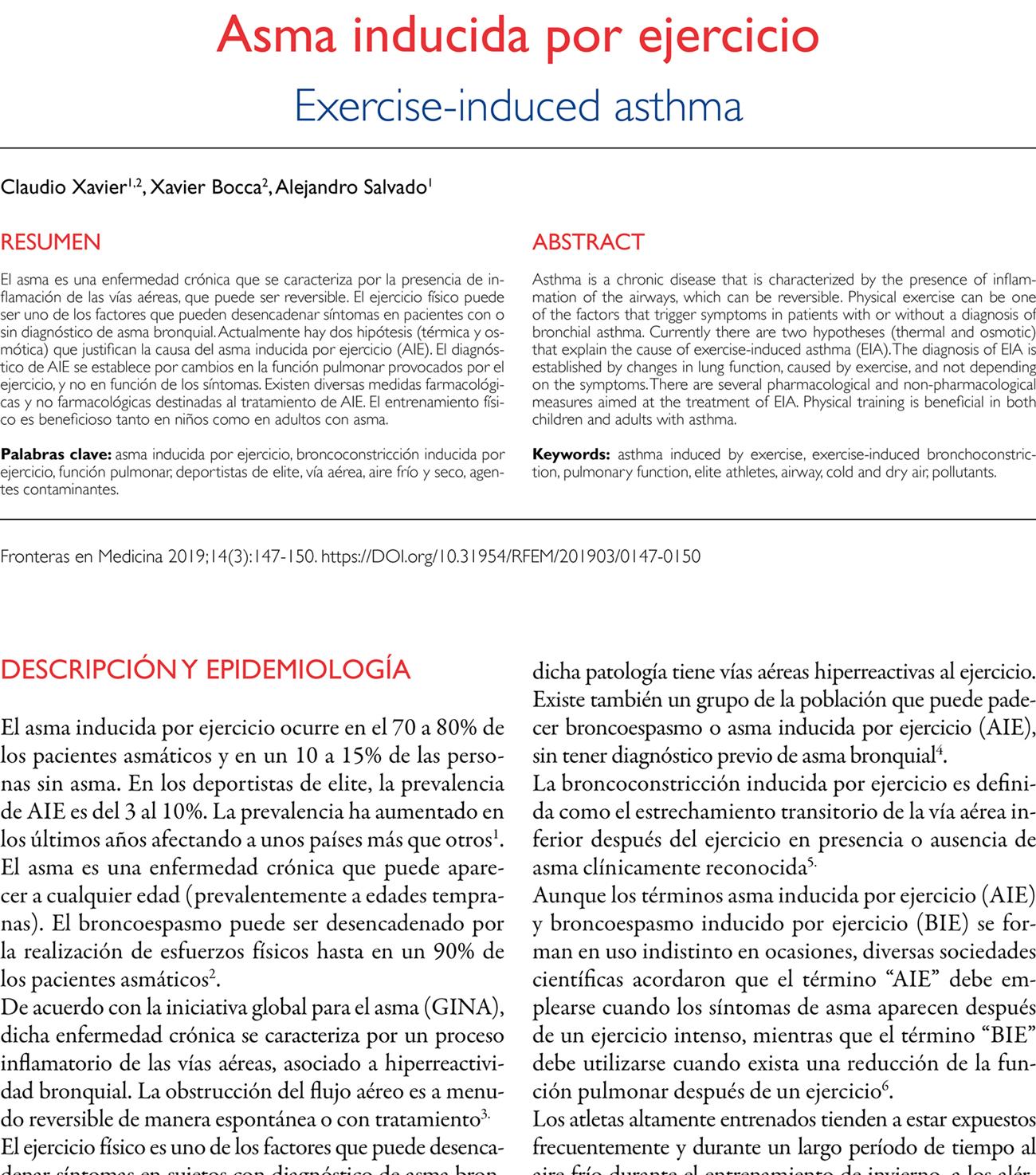 Asma inducida por ejercicio