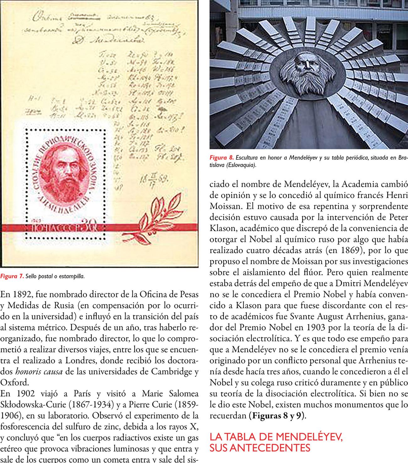 150° Aniversario de creación de la Tabla Periódica de Mendeléyev