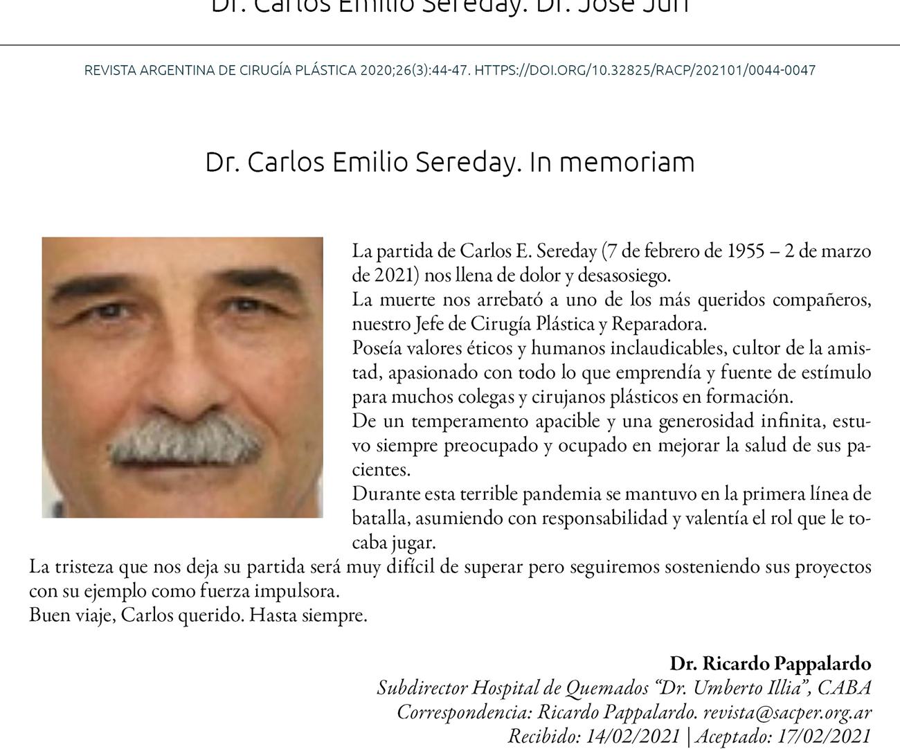 Dr. Carlos Emilio Sereday